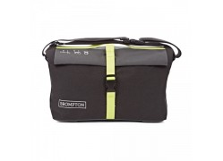 Brompton tas Roll Top Shoulder Bag – Grey, Black w/ Lime Green